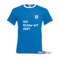 Zwolle Ons Blauw-Wit Hart T-shirt Thumbnail
